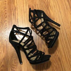 ✨Strappy Black Heels